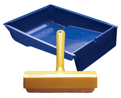 Spatter Shield Roller with Roller Tray