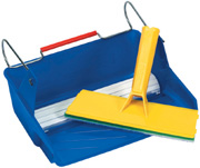 PadBRUSH Painting Set includes a 10 inch PadBRUSH and a Tray with Paint Transfer Wheel