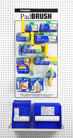 Suggested PadBRUSH Starter Assortment, ideal for smaller stores