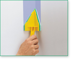 The Corner PadBRUSH is designed for painting both surfaces of an inside corner at the same time.