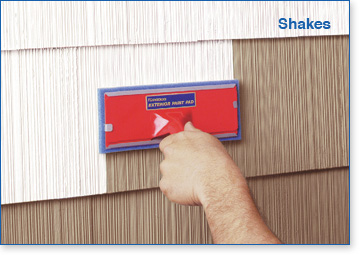 Padco Exterior Paint & Stain Pads are great for shakes.