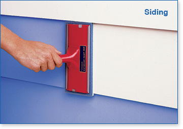 Padco Exterior Paint & Stain Pads are great for siding.
