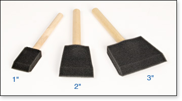 Padco Foam brushes are available in three sizes