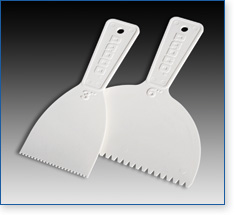 Padco's notched adhesive spreaders are available in two sizes