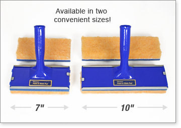 Padco's Deck & Fence Stain Pads are available in two convenient sizes