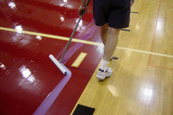 Padco Floor Finish Applicator on a gym floor