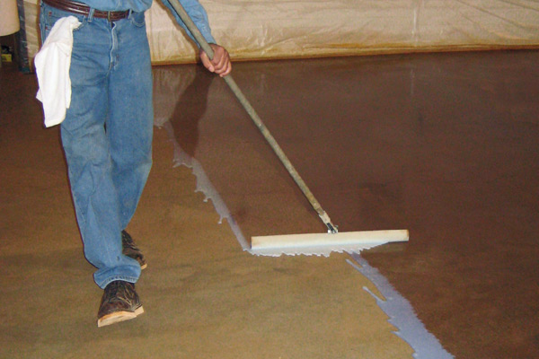 Padco Floor Coater on a concrete surface