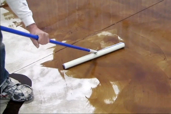 Padco Floor Finish Applicator on a concrete floor