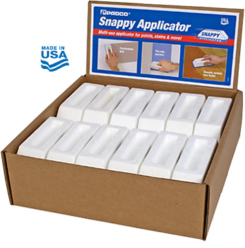 Snappy Applicators in a counter display box
